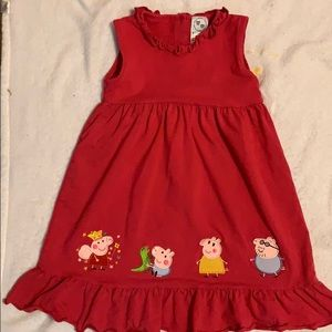 Hot Pink Peppa & Family Dress